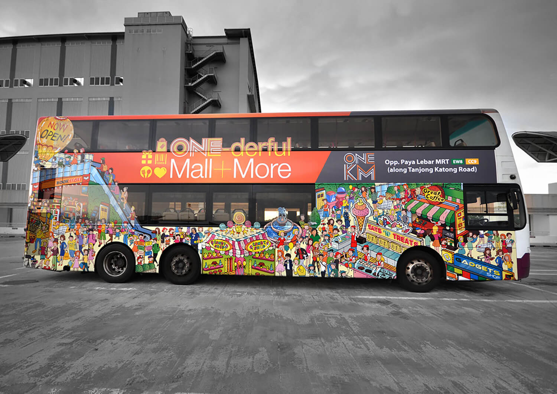 Planet Ads Portfolio - OneKM Mall Bus Wrap